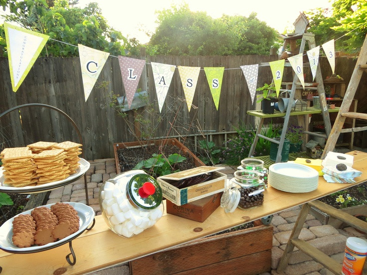 Backyard College Graduation Party Ideas  165 best images about Backyard Party on Pinterest