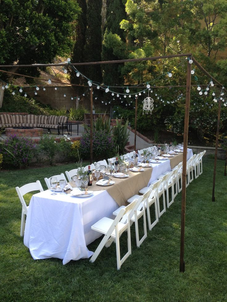 Backyard Dinner Party Ideas  Outdoor Tuscan Dinner Party