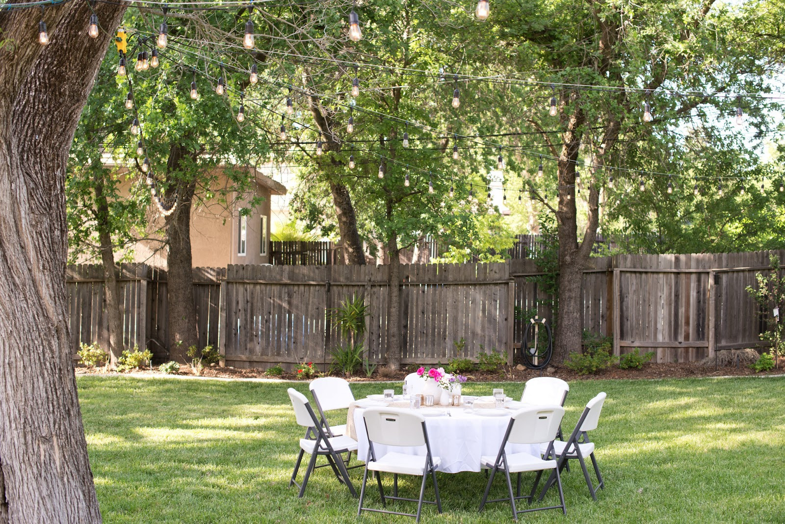 Backyard Dinner Party Ideas  Domestic Fashionista Backyard Anniversary Dinner Party