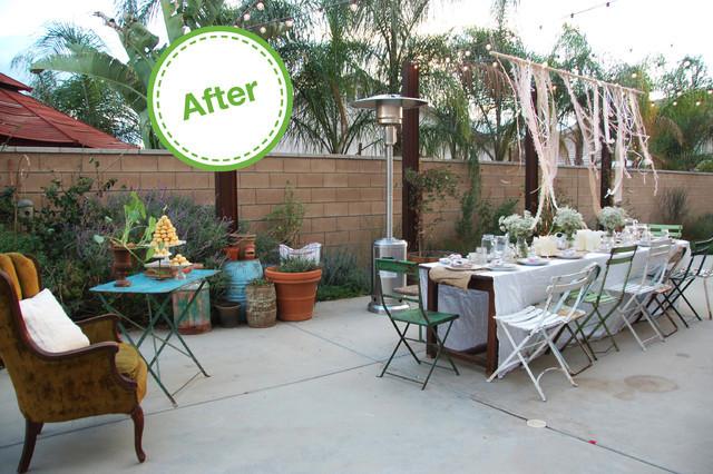 Backyard Dinner Party Ideas  HOUZZ Holiday Contest A Pretty Backyard Dinner Party