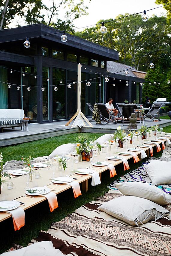 Backyard Dinner Party Ideas  Outdoor entertaining ideas by Eye Swoon