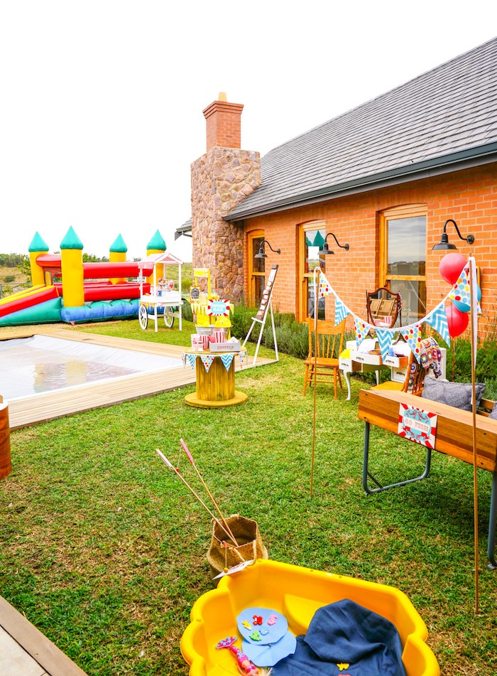 Backyard Kid Party Ideas  Kara s Party Ideas Backyard Carnival Party