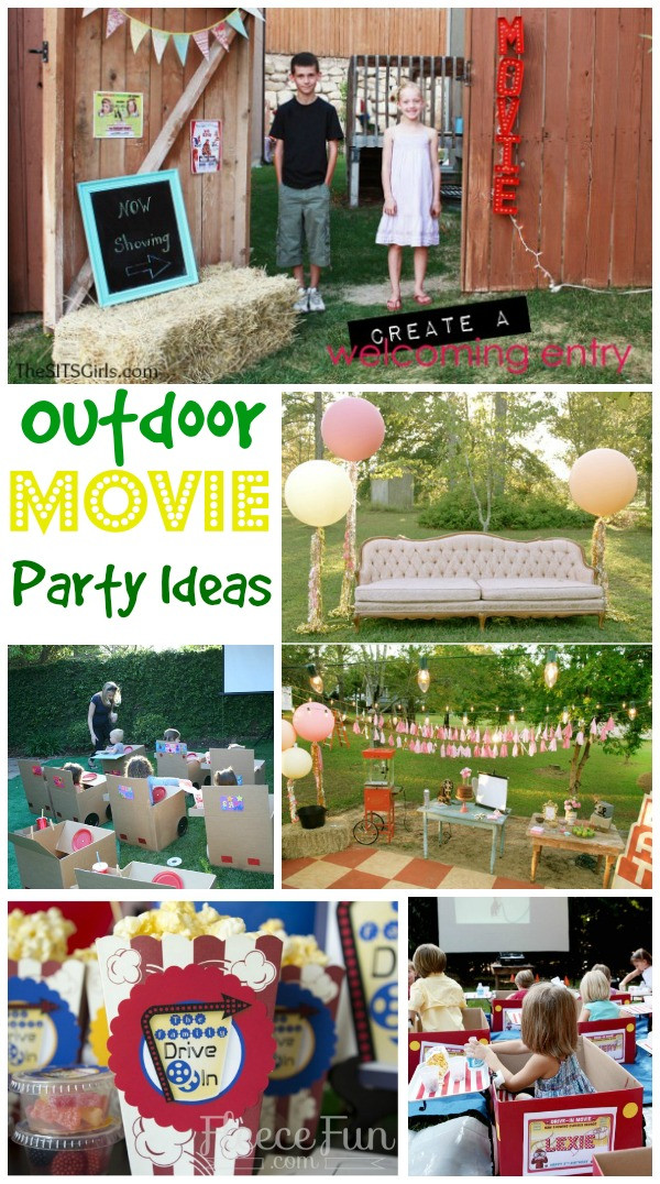 Backyard Movie Party Ideas  Movie Party Ideas Perfect For A Drive In At Home