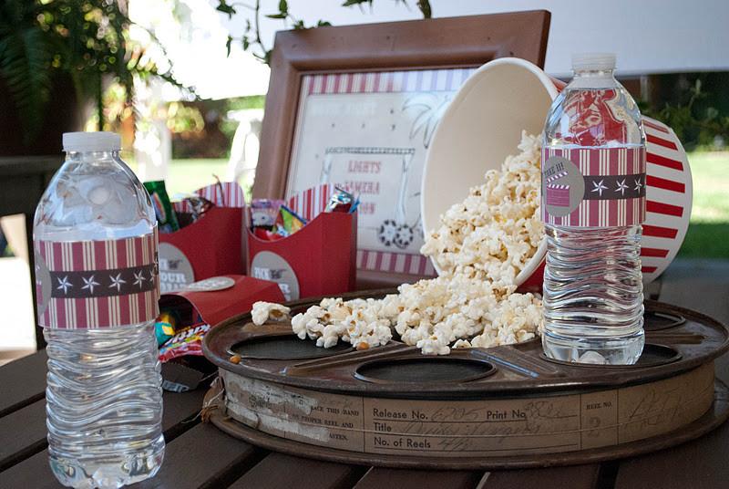 Backyard Movie Party Ideas  Kara s Party Ideas Outdoor Movie Birthday Party