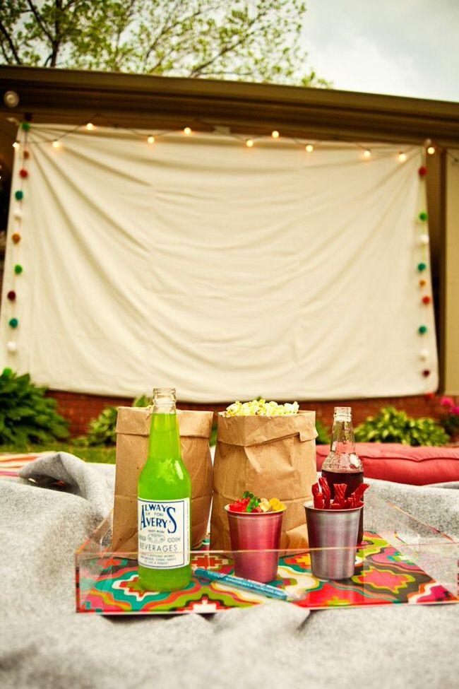 Backyard Movie Party Ideas  Build A Backyard Movie Theater