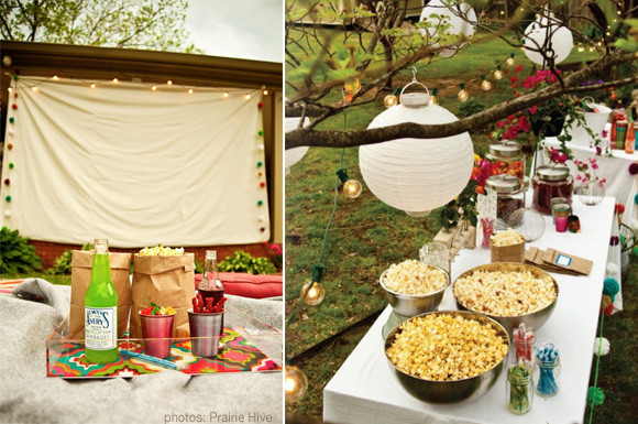 Backyard Movie Party Ideas  Host An Outdoor Movie Night At Home with Kim Vallee