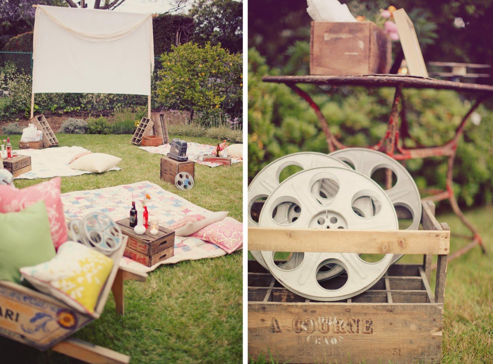 Backyard Movie Party Ideas  Entertaining Hollywood Style A Backyard Movie Screening