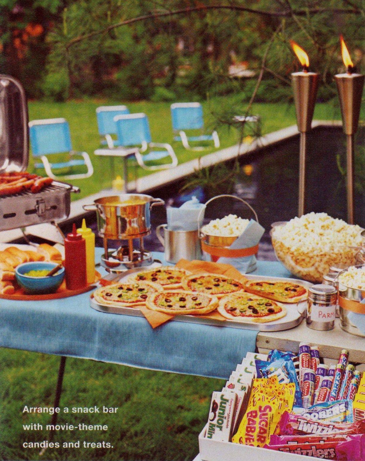Backyard Movie Party Ideas  outdoor movie night ack set up