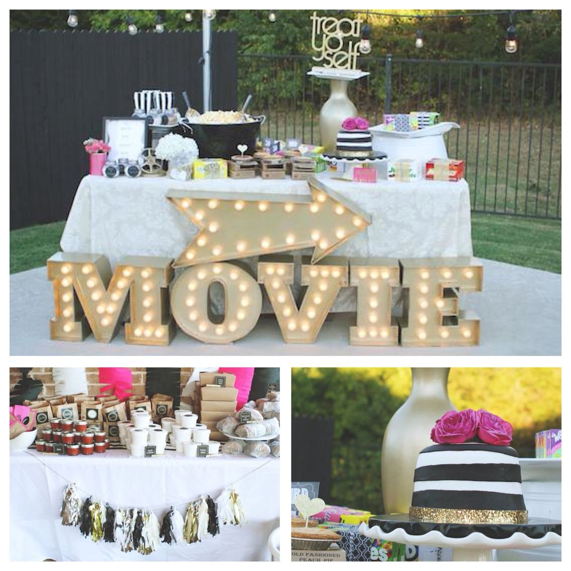 Backyard Movie Party Ideas  Outdoor Movie Party on Pinterest