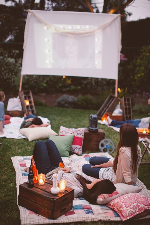 Backyard Movie Party Ideas  Backyard movie night