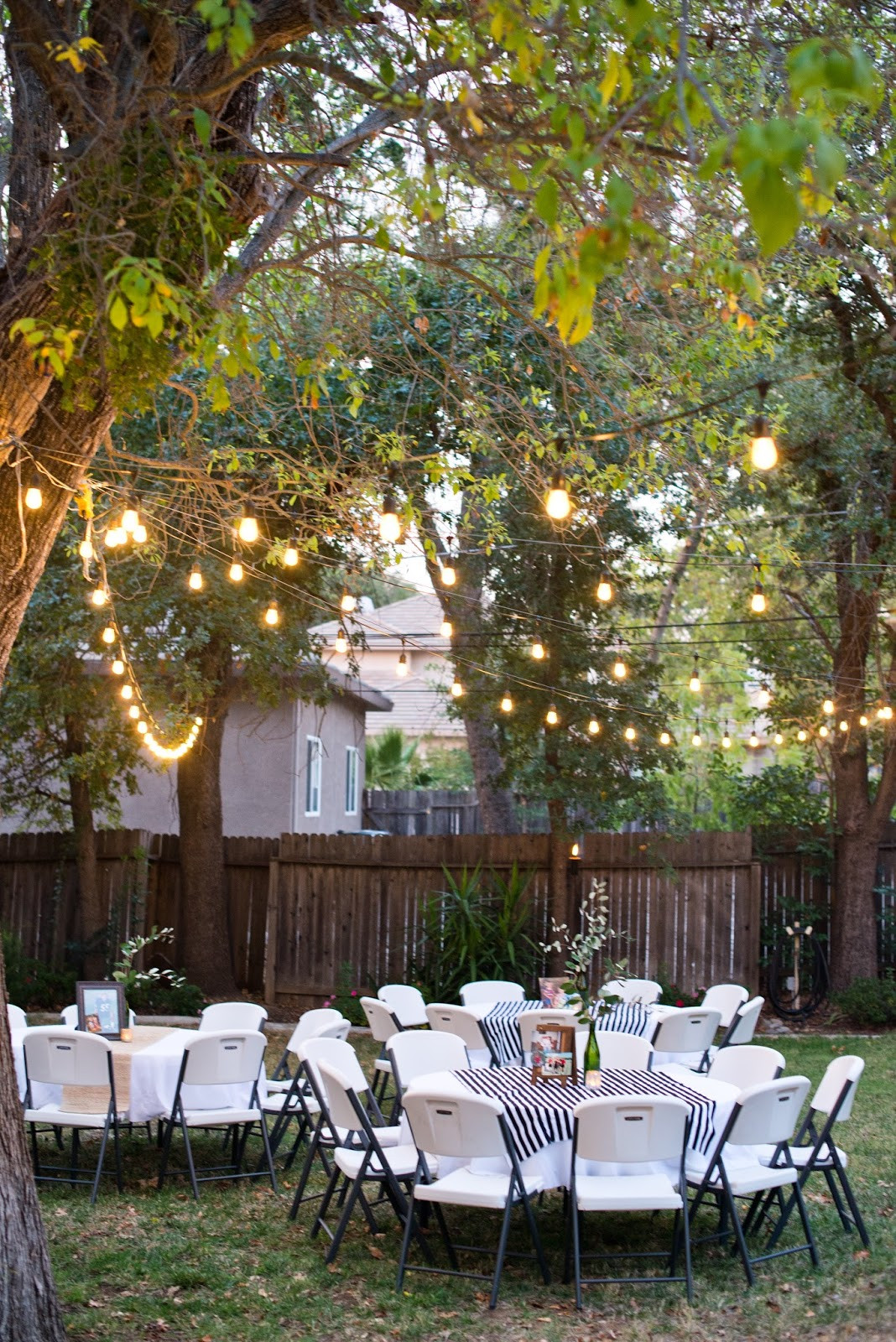 Backyard Party Decor Ideas  Domestic Fashionista Backyard Birthday Party For the Guy