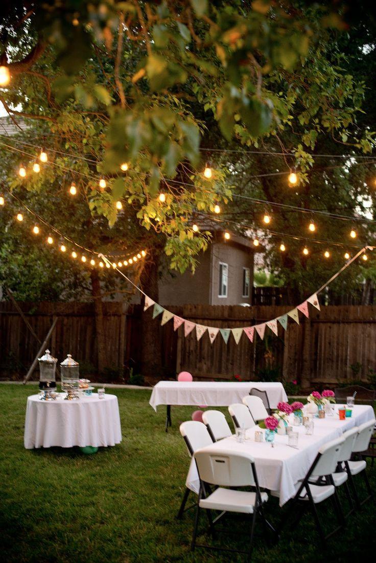 Backyard Party Decorating Ideas Pinterest  Best 25 Backyard parties ideas on Pinterest
