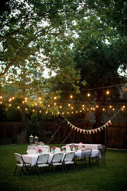 Backyard Party Decoration Ideas For Adults  Domestic Fashionista Backyard Birthday Fun Pink