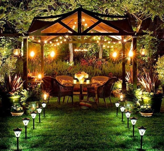 Backyard Party Design Ideas  Decorating with Outdoor Lights to Romanticize Backyard Designs