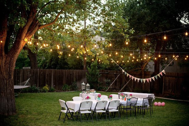 Backyard Party Ideas Adults  Backyard Party Lighting on Pinterest