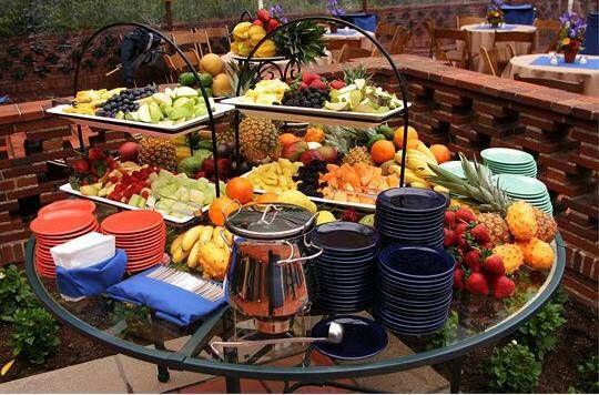 Backyard Party Menu Ideas  A great way to set up a backyard buffet for an informal