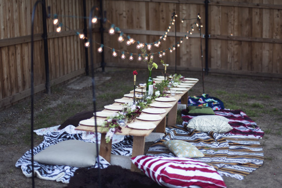 Backyard Party Seating Ideas  Vintage botanical dinner party