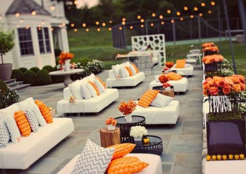 Backyard Party Seating Ideas  outdoor cocktail party decor