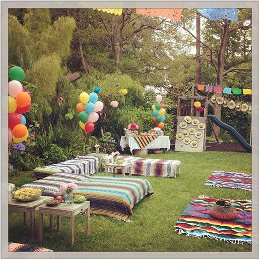 Backyard Party Seating Ideas  25 best ideas about Mexican birthday on Pinterest
