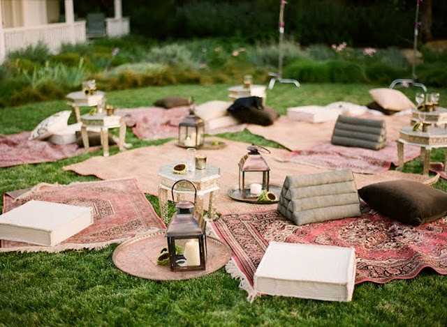Backyard Party Seating Ideas  Ideas for creating a twinkling garden party