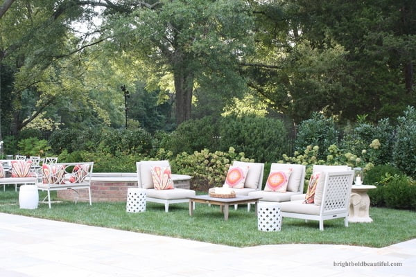 Backyard Party Seating Ideas  Outdoor Party Ideas End of Summer Bash