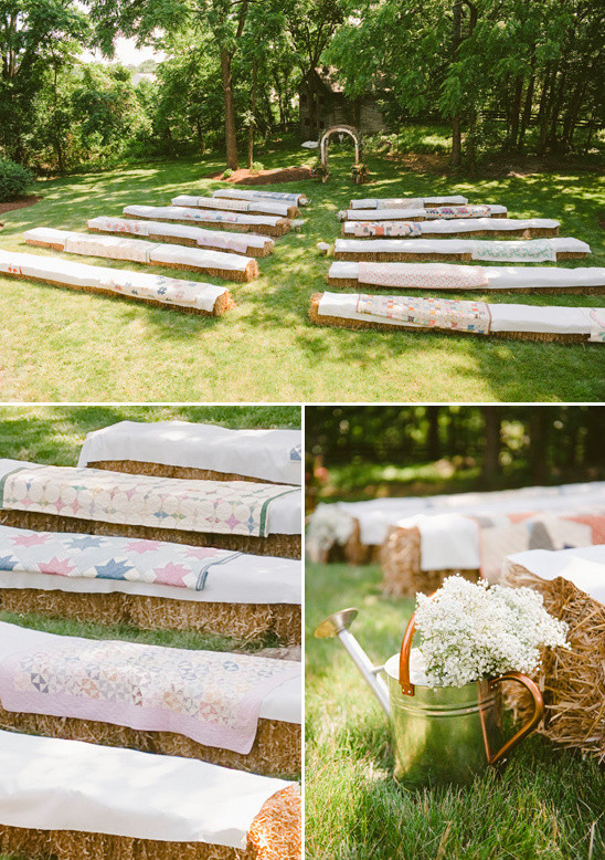 Backyard Party Seating Ideas  Beauteous Backyard Wedding