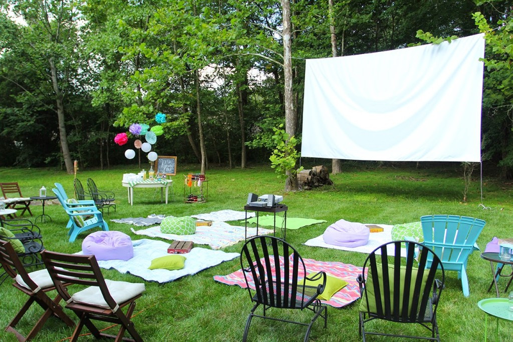 Backyard Sweet Sixteen Party Ideas  Abby's Sweet 16 Outdoor Movie Party
