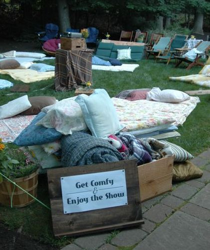 "Backyard Sweet Sixteen Party Ideas  My 3 Monsters ""Sweet 16"" Beach Bash Outdoor Movie Night"