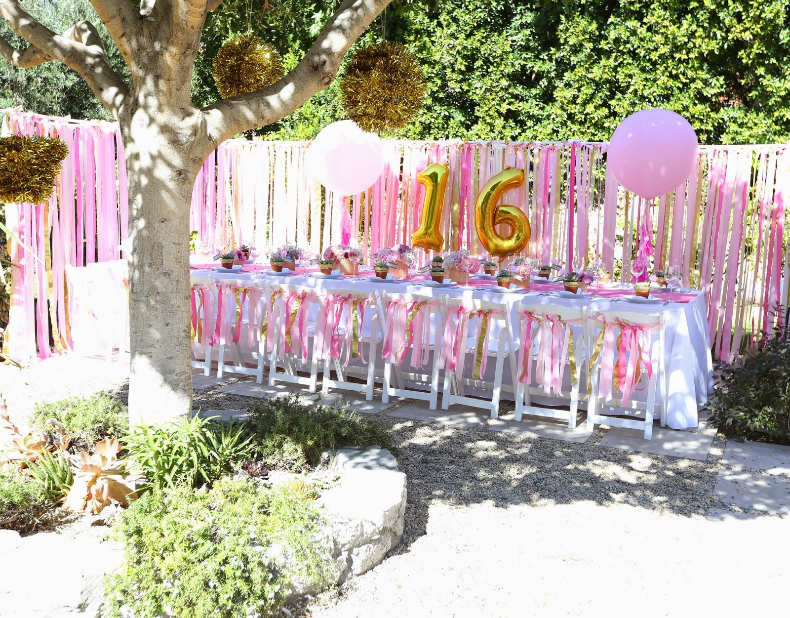 Backyard Sweet Sixteen Party Ideas  the COOP SWEET 16 Party at Home