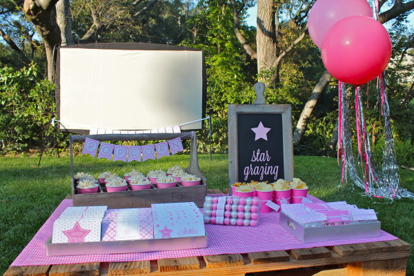 Backyard Teenage Birthday Party Ideas  Guest Party Under the Stars 11th Birthday Movie Party