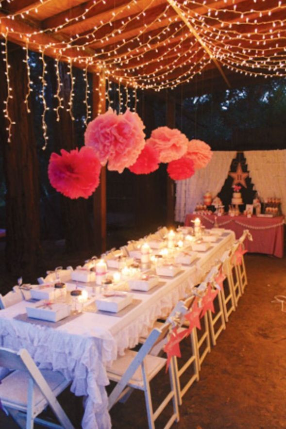 Backyard Teenage Birthday Party Ideas  Love an outside celebration baby shower with a twist