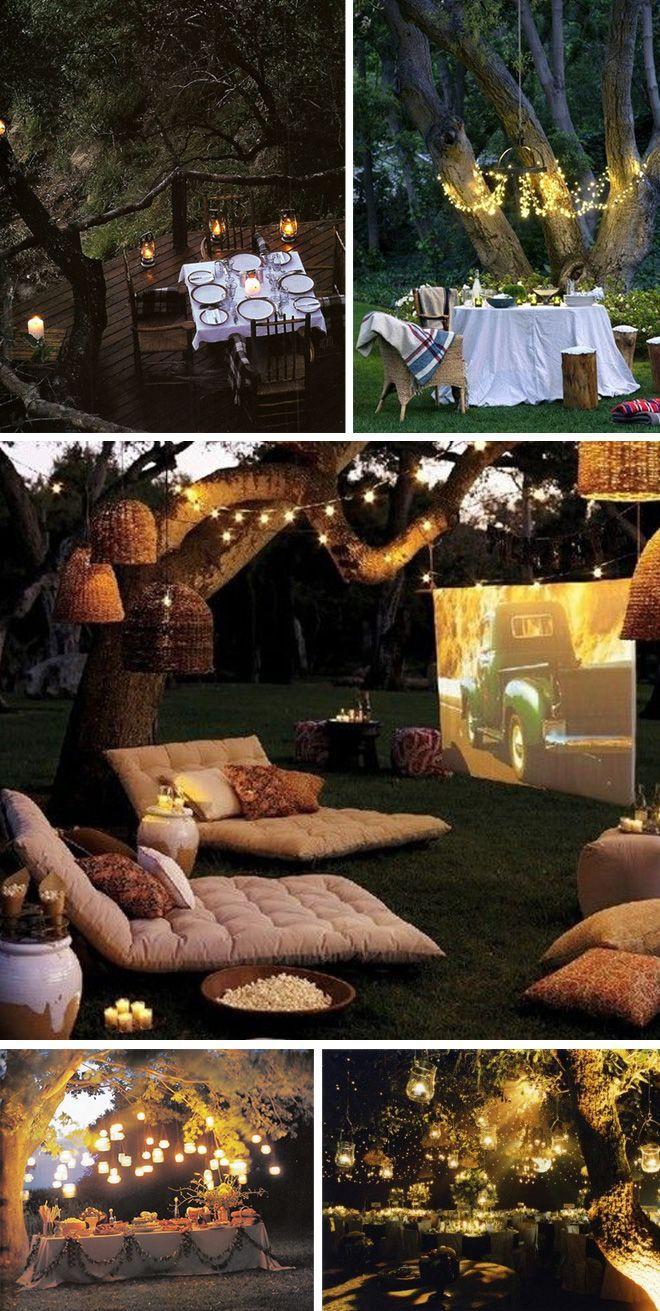 Backyard Teenage Birthday Party Ideas  Best 25 Outdoor Movie Party ideas on Pinterest