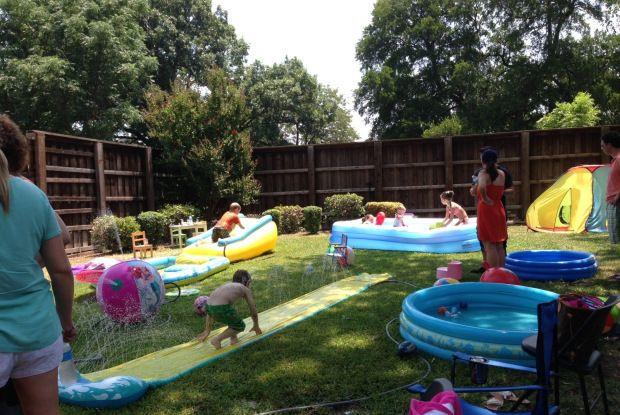 Backyard Water Park Party Ideas  Backyard birthday party idea Kids Stuff