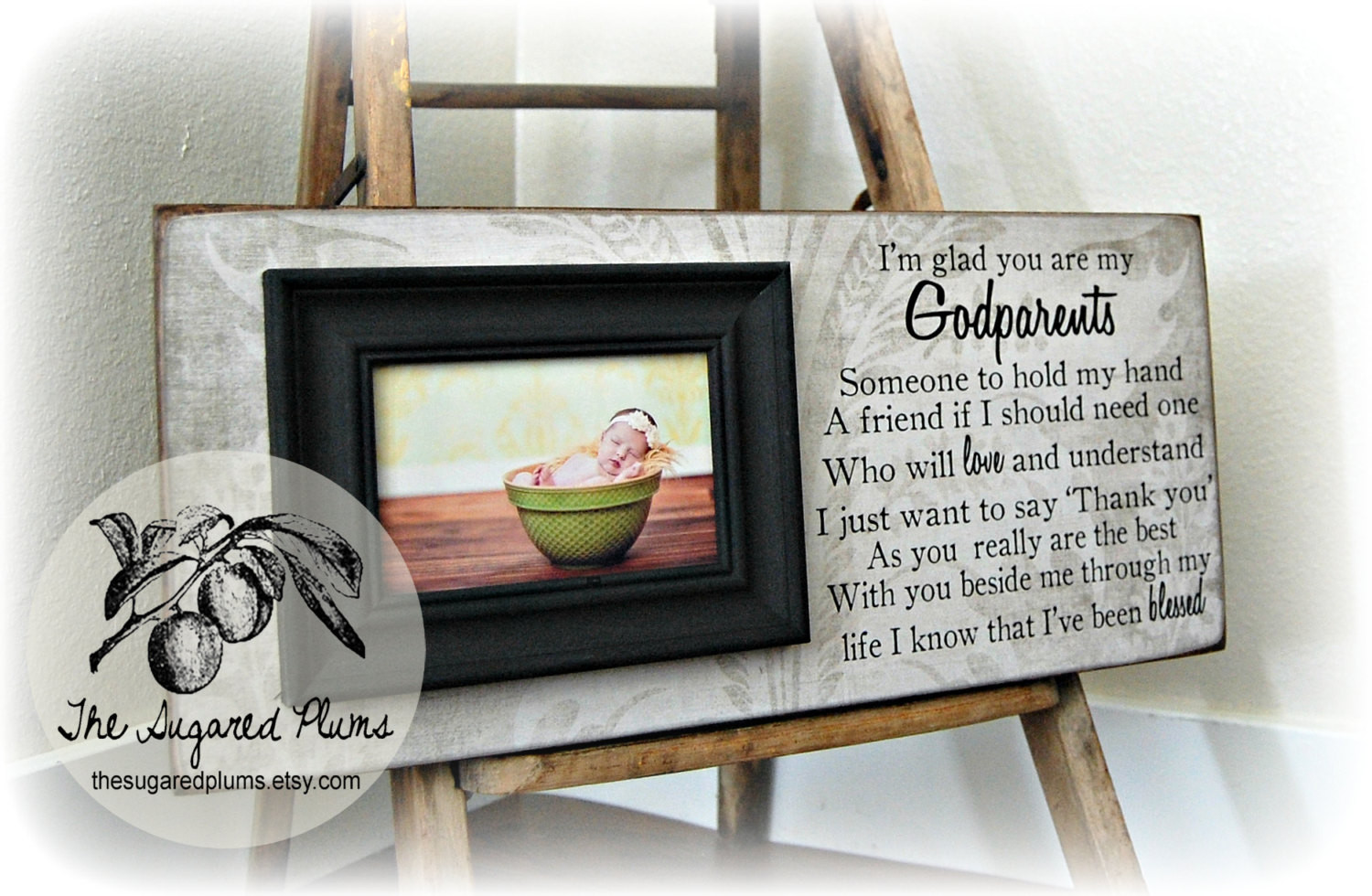 Baptism Gift Ideas From Godmother  Baptism Gift for Godparents Christening Gift Godparents