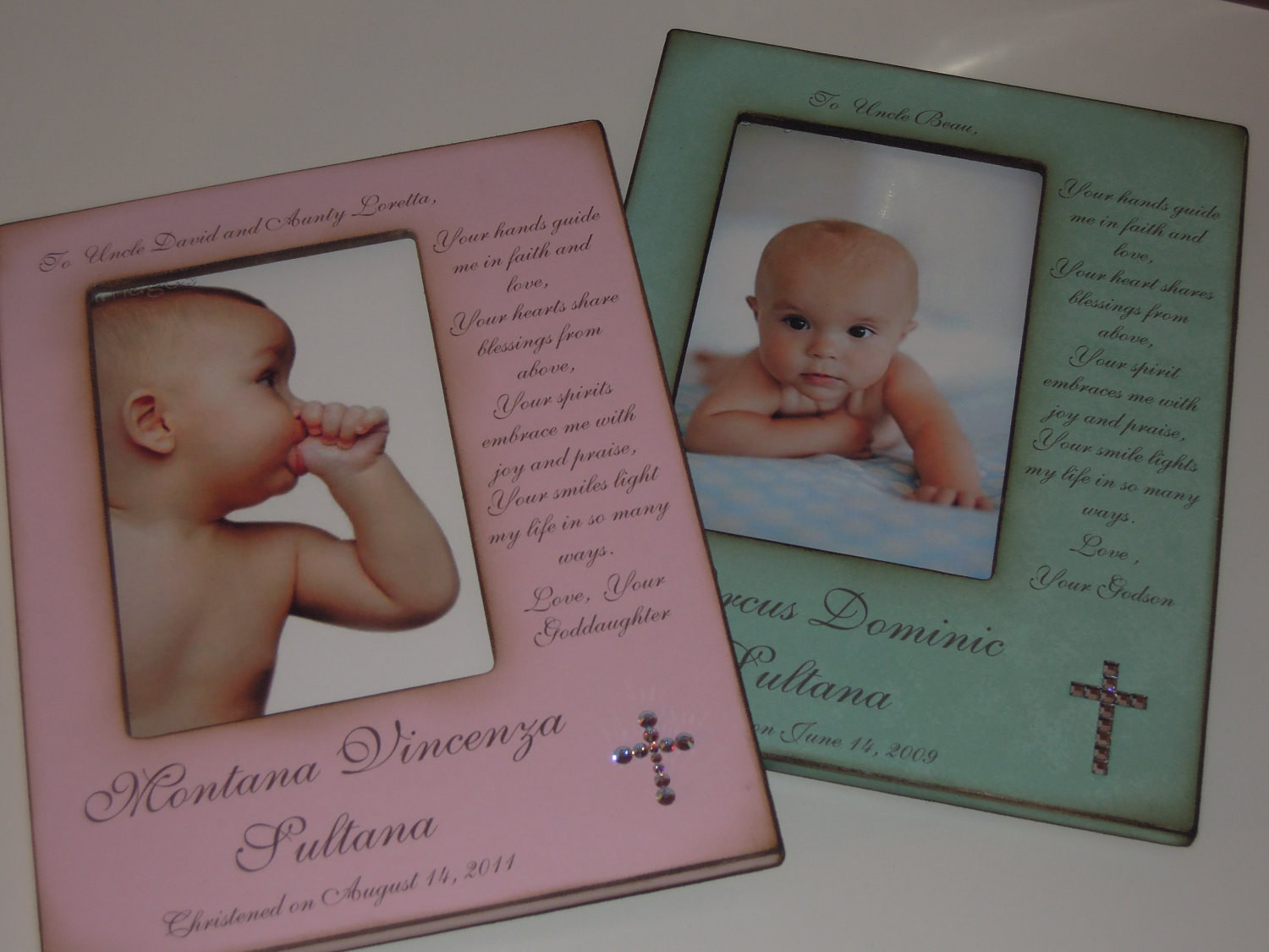 Baptism Gift Ideas From Godmother  Godparent Baptism Christening Gift Personalized Frame for