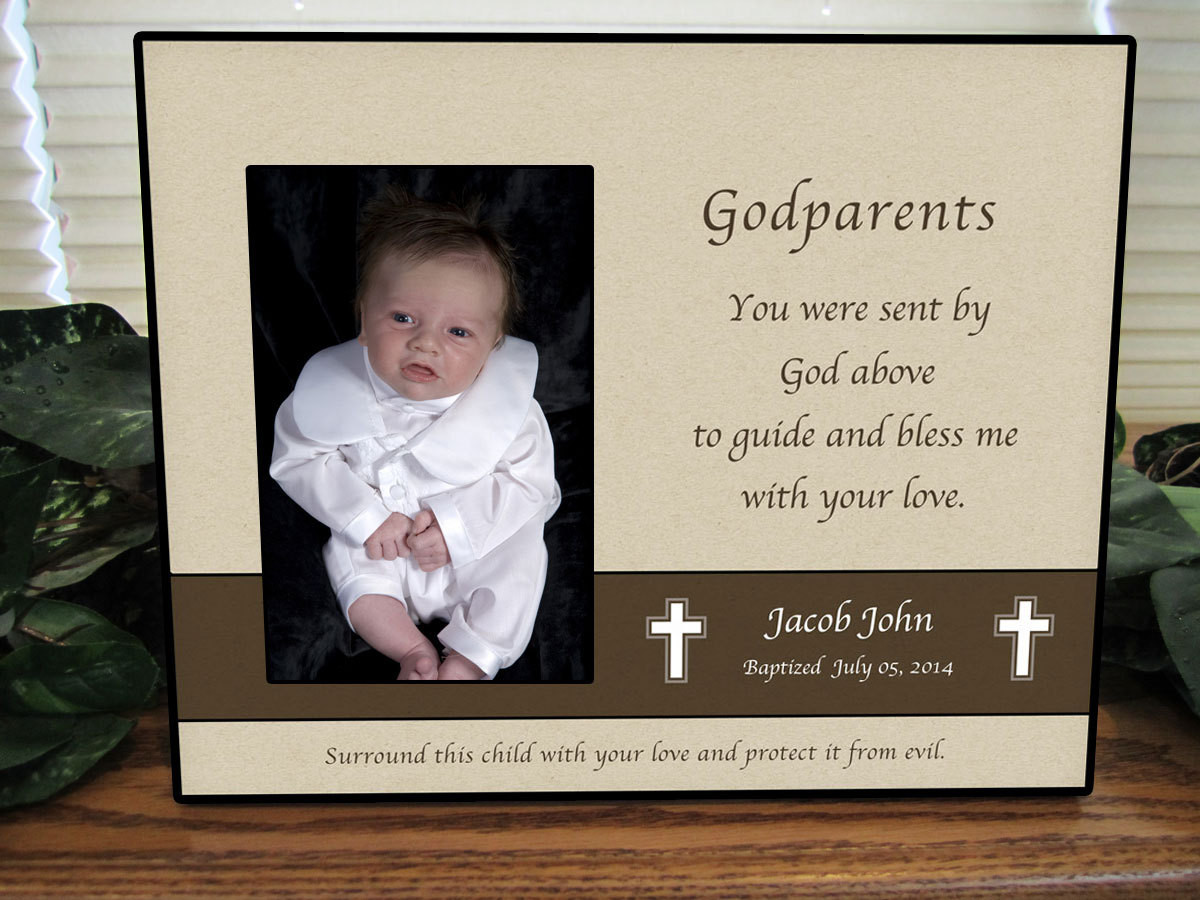 Baptism Gift Ideas From Godmother  Godparent Gift Baptism Gift for Godparents Baptism Gift