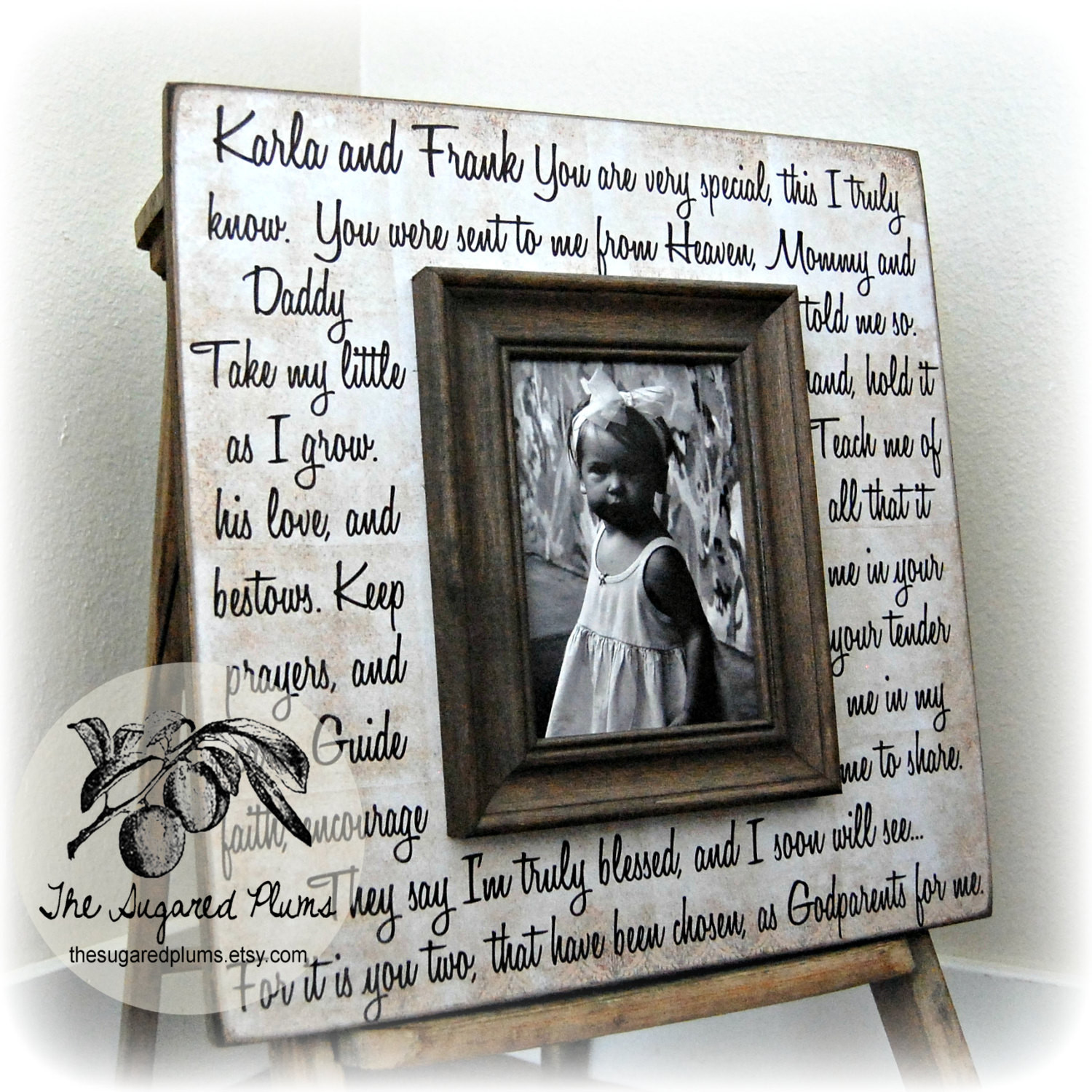 Baptism Gift Ideas From Godmother  Godmother Gift Godfather Gift Godparent Gift by
