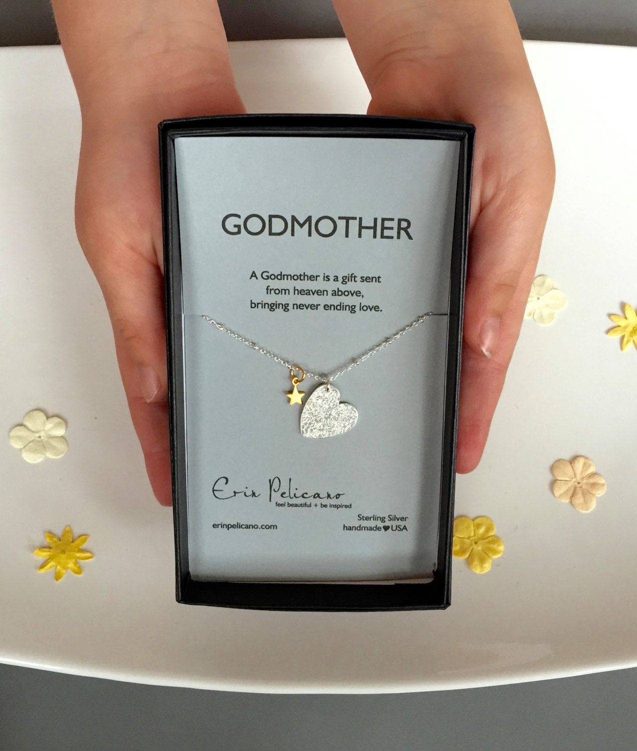 Baptism Gift Ideas From Godmother  Godmother Necklace Will You Be My Godmother Gift Baptism