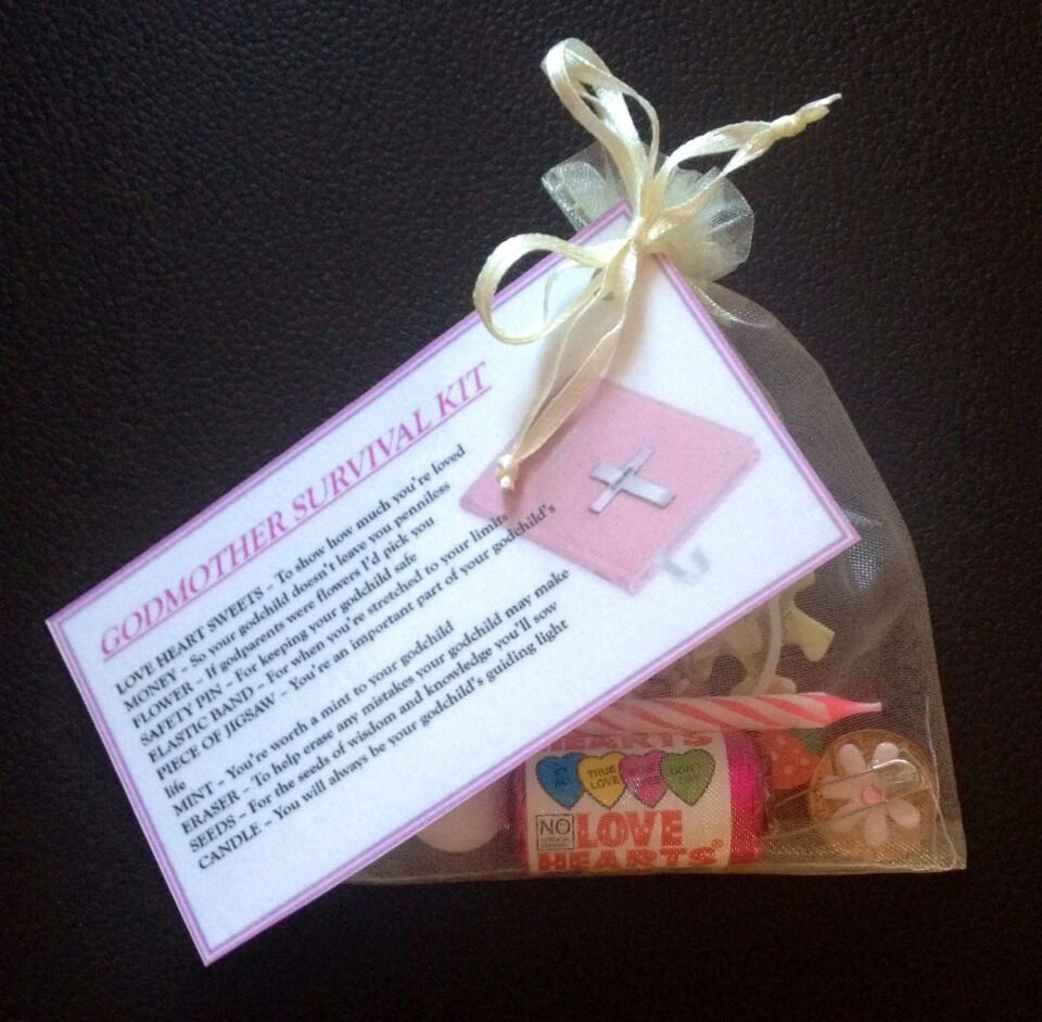 Baptism Gift Ideas From Godmother  GODMOTHER Survival Kit GIFT For GODPARENTS CHRISTENING