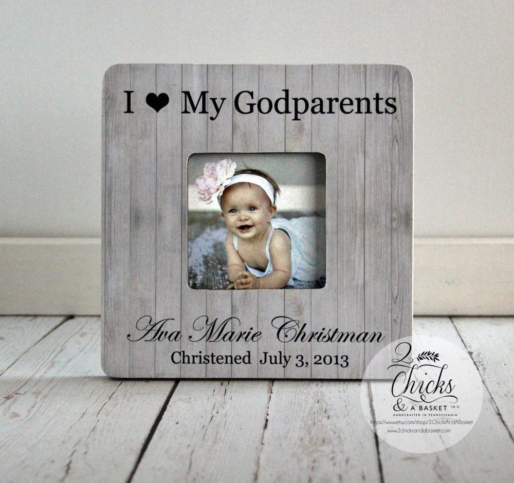 Baptism Gift Ideas From Godmother  Godparent Gift Personalized Christening Picture Frame