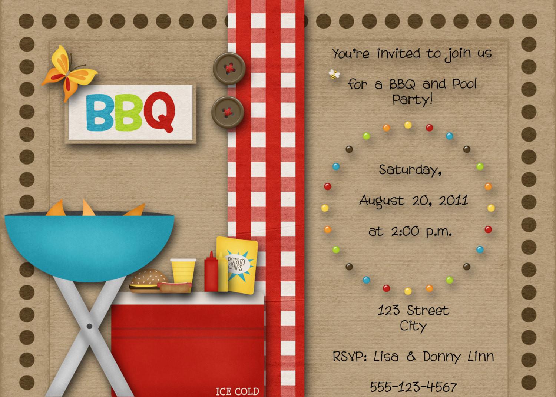 Bbq Pool Party Ideas  BBQ Pool Party Invitation by DecidedlyDigital on Etsy