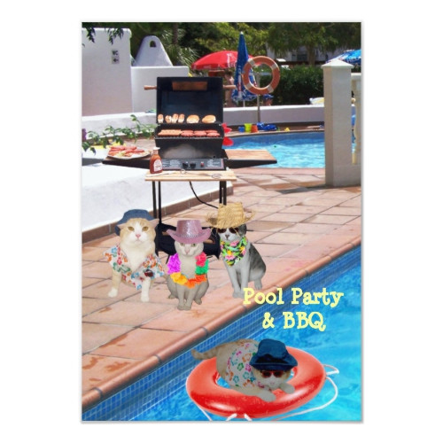 Bbq Pool Party Ideas  How To Word A Bbq And A Pool Party Invitation
