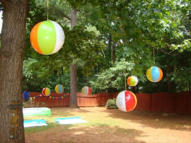 Beach Ball Pool Party Ideas  23 Colorful Kid's Pool Party Decorations Shelterness