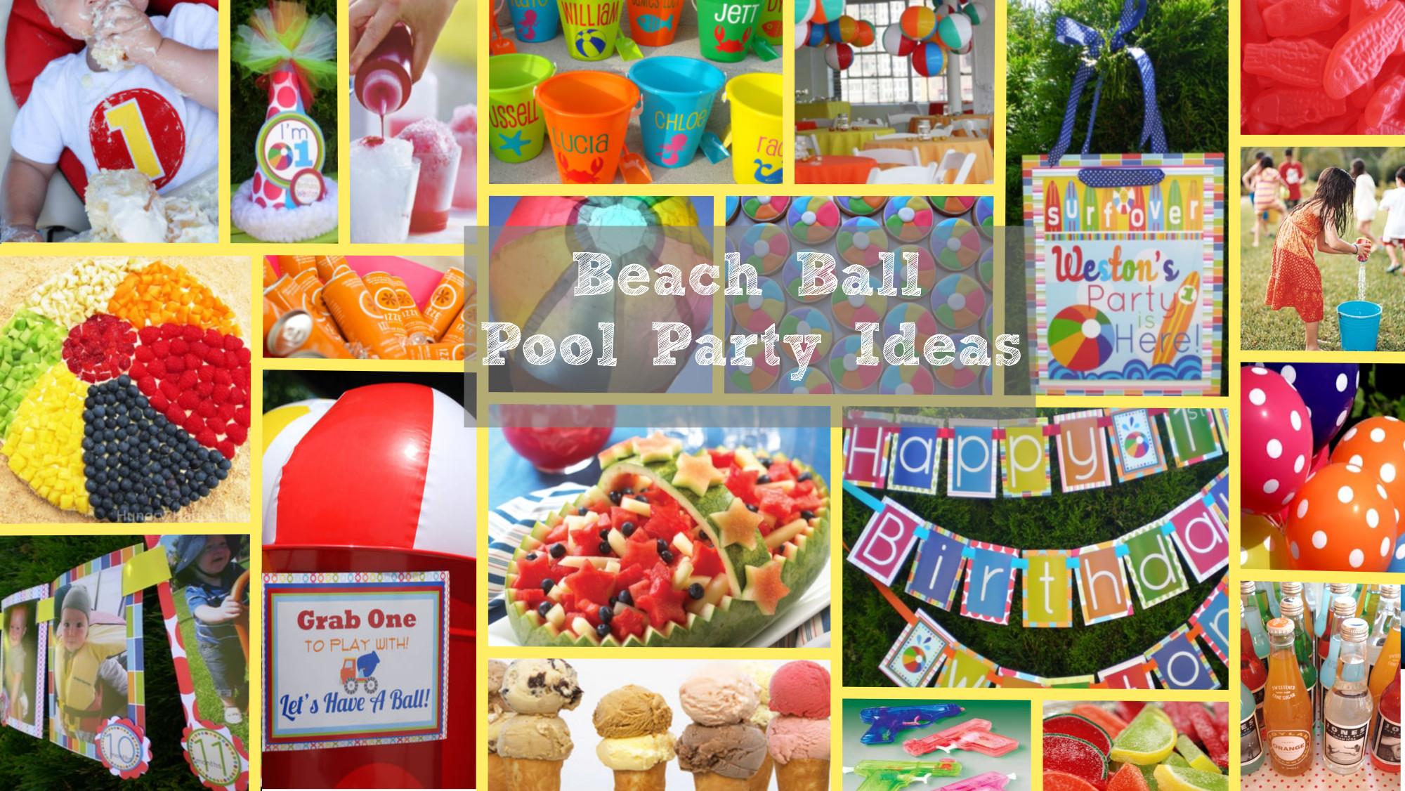 Beach Ball Pool Party Ideas  Beach Ball Party Ideas inspiration board