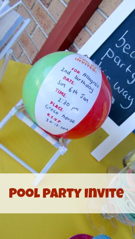 Beach Ball Pool Party Ideas  Celebrate a Summer Birthday with a Pool Party