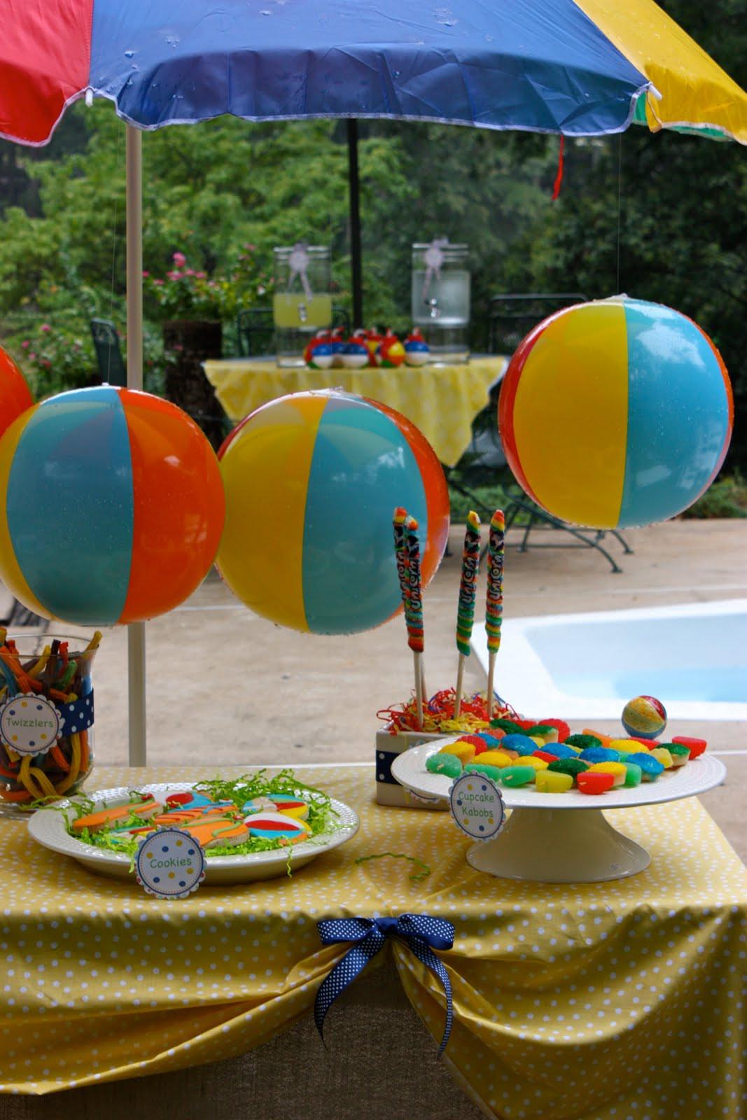 Beach Ball Pool Party Ideas  Pluff Mudd Studio Splish Splash