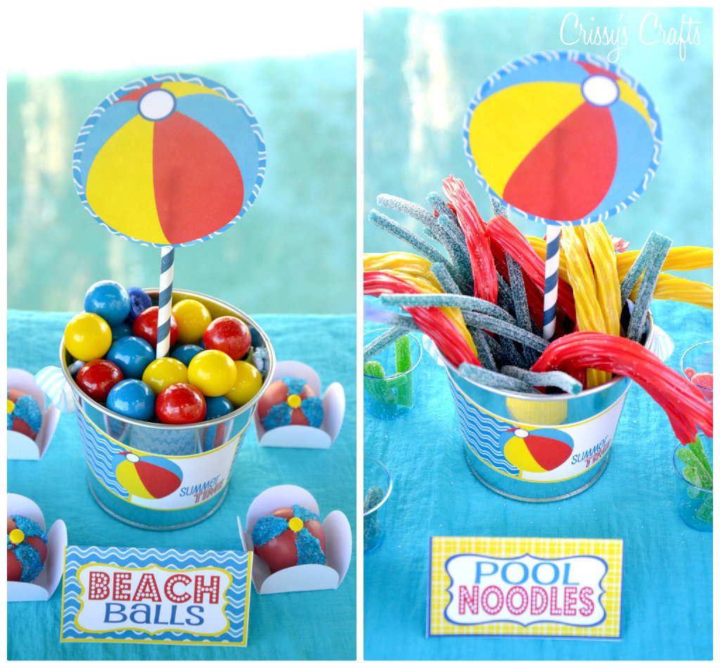 Beach Ball Pool Party Ideas  Crissy s Crafts School s Out SPLISH SPLASH Pool Party