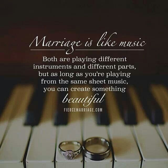 Beautiful Marriage Quotes  Marriage Is Like Music ♡Marriage♡