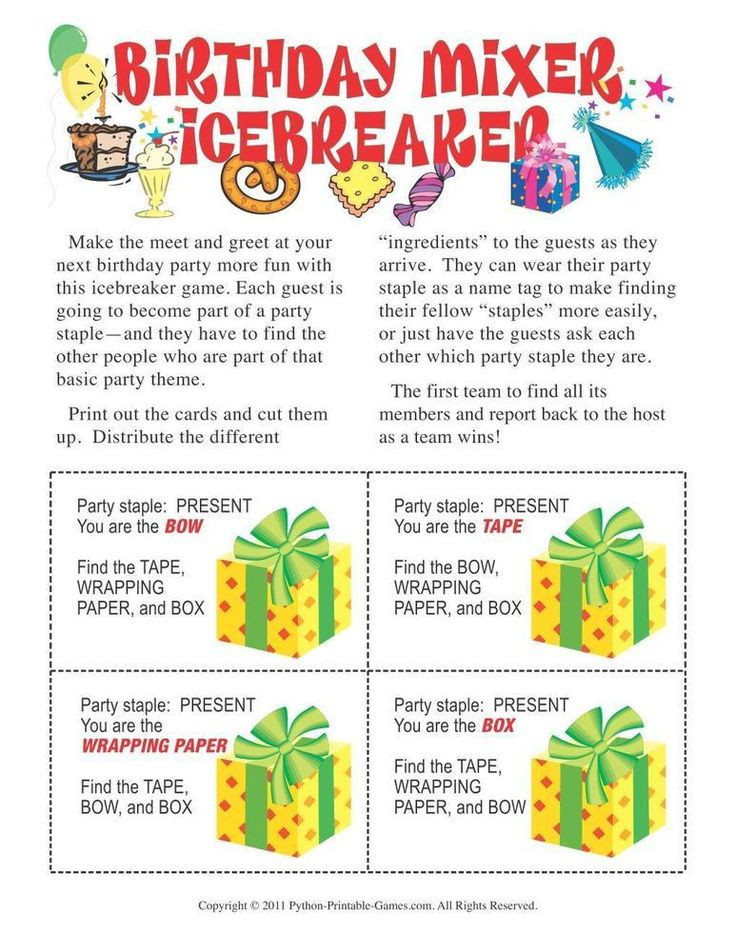 Best Birthday Party Games  17 best Birthday Party Printable Games images on Pinterest