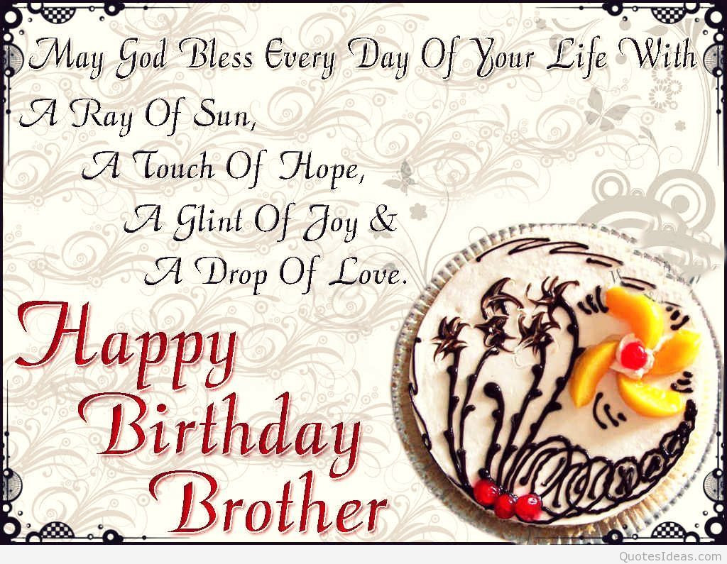 Best Birthday Quotes For Brother  Happy birthday brothers quotes and sayings